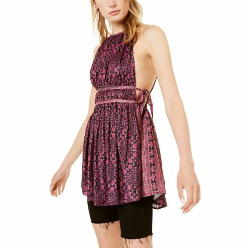 FREE PEOPLE NEW Women/'s Midsummers Day Printed Tunic Top TEDO