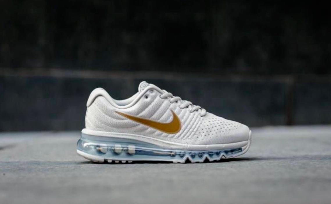 Nike 851622 Air Max 2018 GS Running Trainers Chaussures 851622 Nike 008 Light Bone Gold femmes d57c73