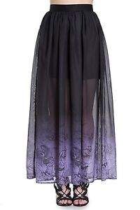 b2f3ef8125abd2 NEW PLUS SIZE BLACK PURPLE SHEER MAXI SKIRT MERMAID MYTH OMBRE ...