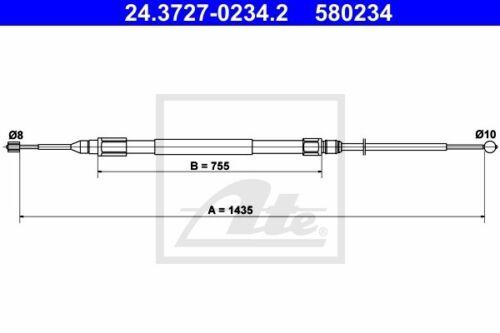 ATE Bremsseil Seilzug Feststellbremse 24.3727-0234.2 für BMW E82 E81 E87 E88 1er