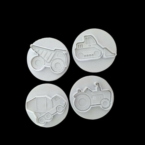 4x Missile Vehicle,Tank Armored Car Sample Cookie Cutter Fondant Cake Molds YNW