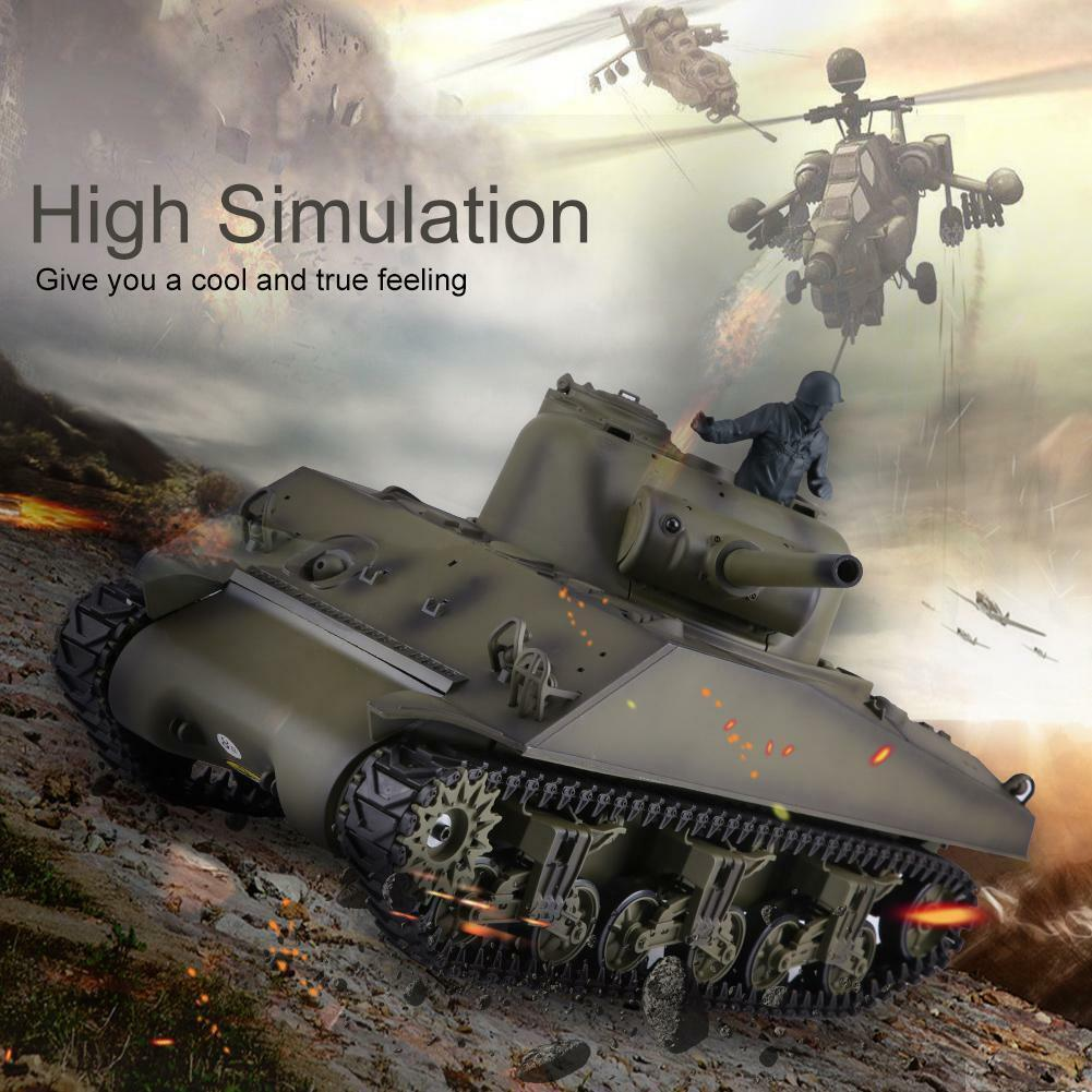 Heng Long 3898-1 1 16 2.4G RC Tank Sound Simulation US Sherman M4A3 Model