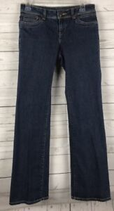 WOMEN-039-S-SIMPLY-VERA-VERA-WANG-DARK-WASH-BOOTCUT-DENIM-JEANS-SIZE-2