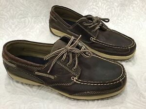 Sperry Top Sider Women's Shoes Size 9.5 M Brown Leather Boat Shoes Deck