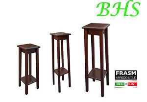 Sgabello colonna portavaso portaoggetti alzata legno portapiante made italy ebay - Mobiletto portatelefono ikea ...
