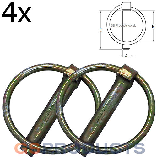 Packaging! 4x 11mm x 45mm Linch Pin Spring Loaded Retaining Pin Free Postage