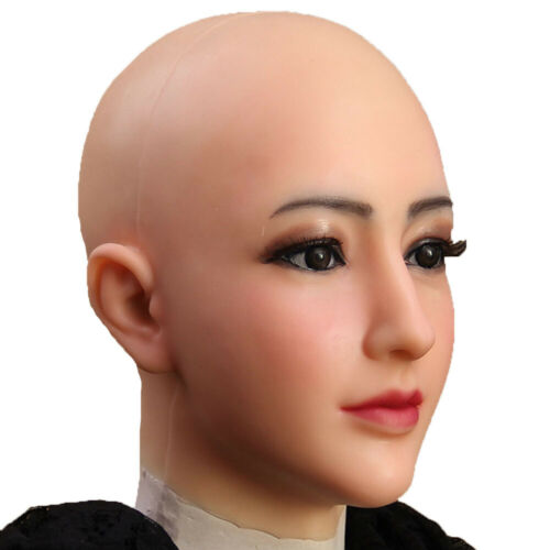 Dokier Silicone Female Headwear Hoods Head Cover Makeup For Crossdresser Cosplay