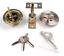 New Dead bolt Single Cylinder Polished Door Lock with 3 Keys Home Gate US SHIP