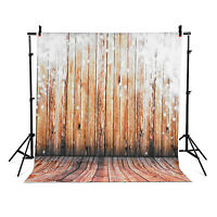 Backdrops Photo Light Studio Background Brown Wood Vinyl 5x7ft High Quality
