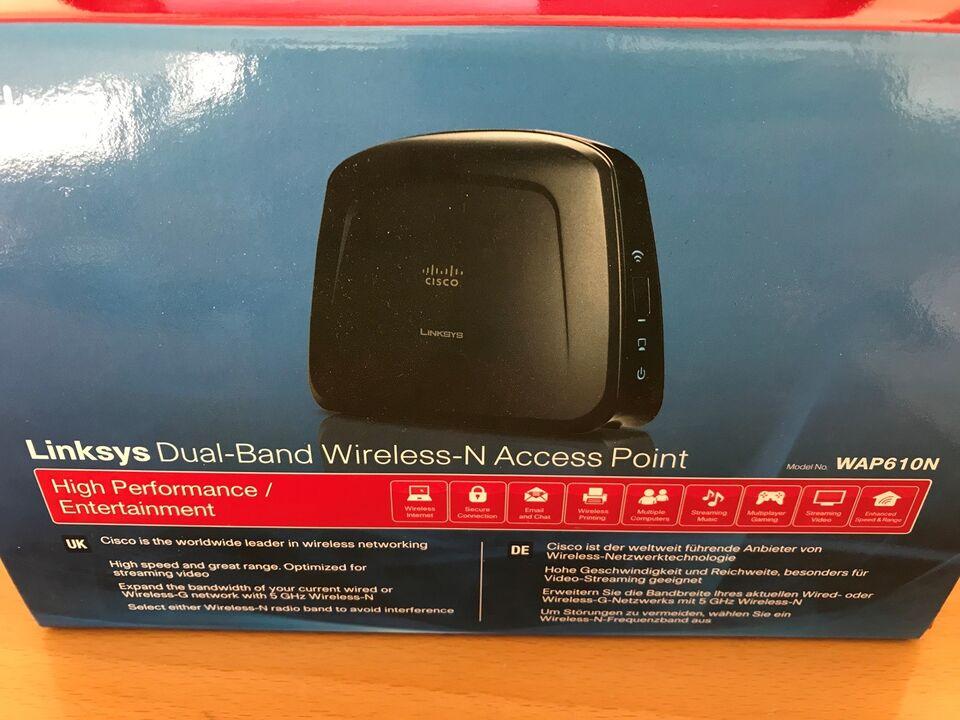Access point, Cisco Linksys Dual-Band, WAP610N