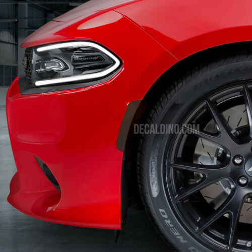 Charger Front Reflector Overlay Tint Kit Dodge Smoke Side Marker Fits 2015