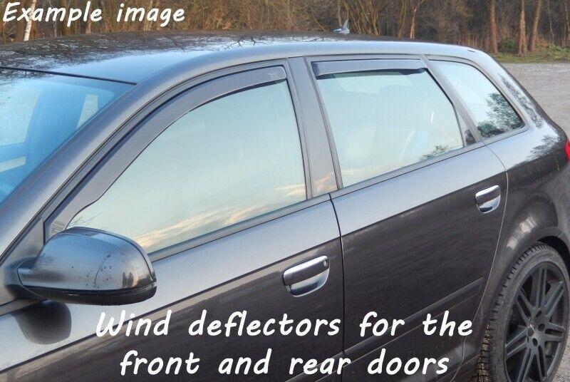 Tinte Negro Climair Viento desviadores de Honda Civic 3Dr Hatchback Mk7 2000-2005 frontal