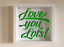 IKEA RIBBA Box Frame Personalised Vinyl Wall Art Quote Love you Lots