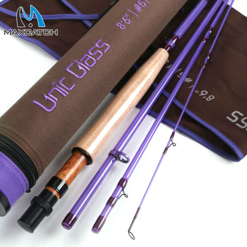 Maxcatch Unic Fiberglass 3//4//5wt Fly Fishing Rod Fast Action Carbon Glass Blank