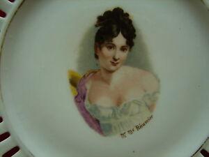 Jolie Ancienne Assiette Ajourée, Portrait Mme Récamier 6phaoreh-08002441-572017260