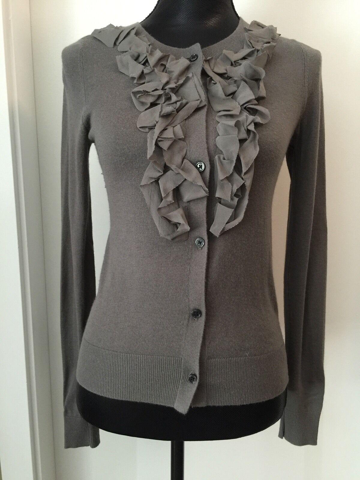 New Club Monaco Long Sleeve Knit Grey Cardigan Sweater XS