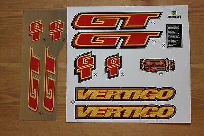 Chrome Backing Reproduction 1994 GT Vertigo BMX Decal Set