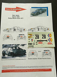DECALS-1-24-ALPINE-RENAULT-A110-ANDERSSON-RALLYE-MONTE-CARLO-1971-WRC-RALLY