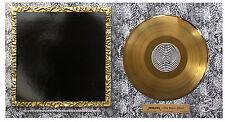 METALICA THE BLACK ALBUM FRAMED GOLD  LP ORIGINAL POP ART MUSIC MEMORABILIA