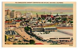 Consolidated-Aircraft-Corporation-and-Skyline-San-Diego-CA-Postcard-5Q-2-7