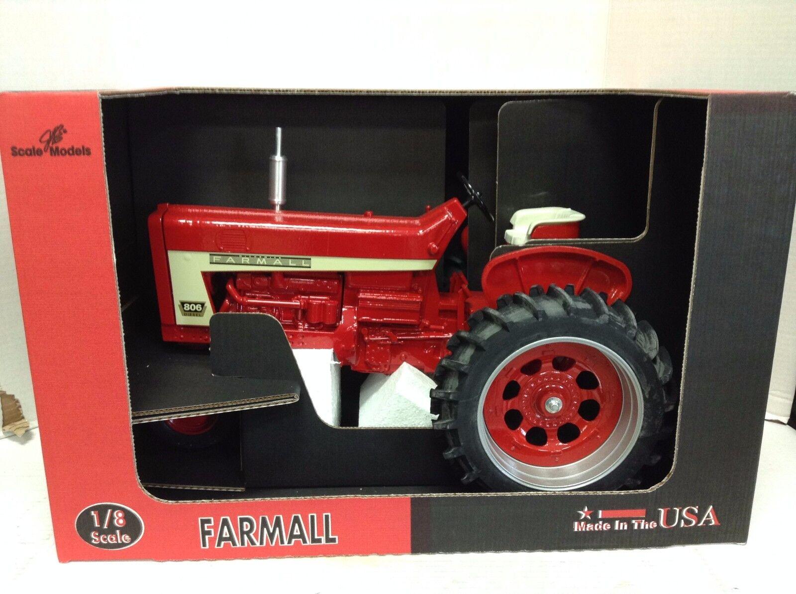 CASE IH 1 8 Scale Models Farmall 806 jouet tracteur DIE CAST FG-ZSM869