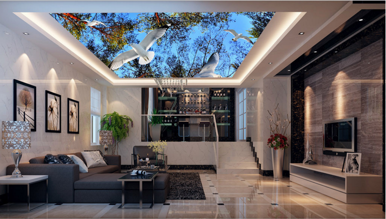 3D Tree Pigeon Sky 76 Ceiling Wall Paper Print Wall Indoor Wall Murals CA Carly