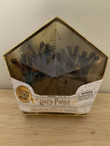 Harry Potter Chocolate  Squishy Frog Toy Brown Noble Collection With Sticker