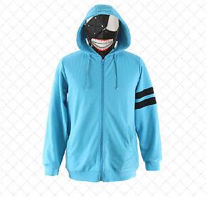 Tokyo Ghoul Kaneki Ken Anime Cosplay Costume Hoodie Blue Coat Ebay