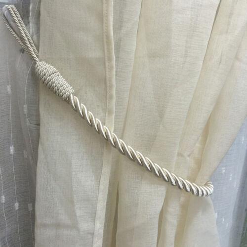 2PCS fenêtre rideaux en corde plissée dos embrasses suspension décorative maison