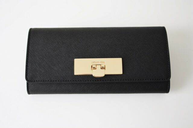 bb0f356d12e3 Michael Kors Callie Leather Carryall Wallet in Black 35h6gyae7l for ...