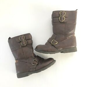 3970710c86209 Carters Everton Boots Toddler Girls 9 Brown Heart Buckles Zip Up ...