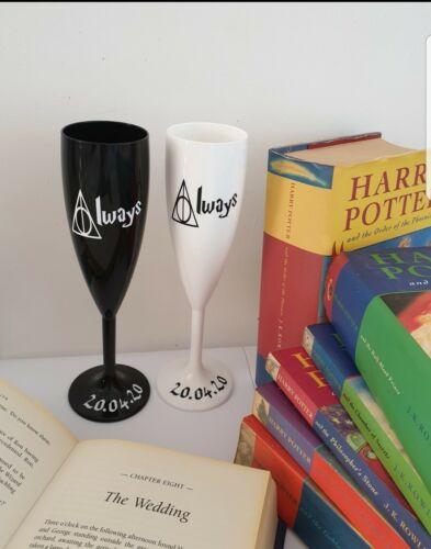 Harry Potter MARIAGE FLÛTES toujours Citer Avec Date Personnalisé Cadeau De Mariage