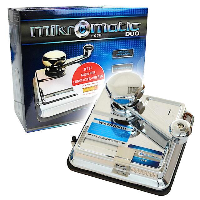 MIKROMATIC DUO OCB Zigarettenstopfer MICROMATIC Zigarettenmaschine Stopfmaschine
