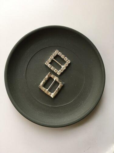 $1 POST Heart Square Round Rhinestone Ribbon Sliders Buckles PACK OF 10