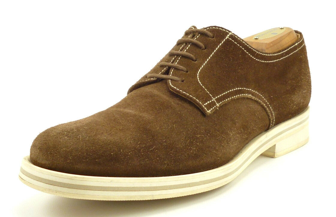 Church's Men's shoes Casual Suede Lace Up Oxfords Brown Size 6.5   US 7.5