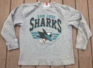 San-Jose-Sharks-Mitchell-amp-Ness-Gray-NHL-Hockey-Sweatshirt-Size-XL