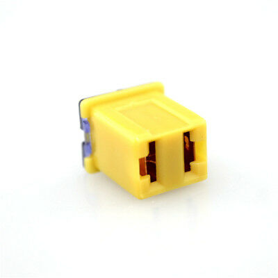 Red 50A AMP 32V Female Plug in Blade Jcase Cartridge Low Profile Fuse Copper New
