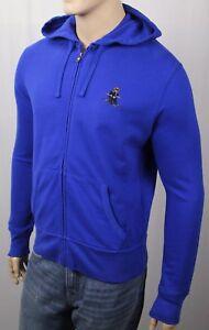 Ralph Lauren Blue Polo Teddy Bear Skier Hoodie Full Zip Sweatshirt NWT