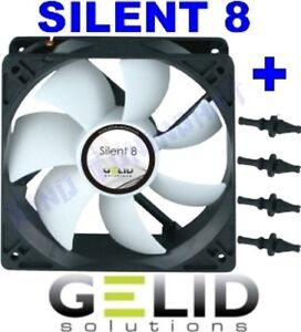 Fan-For-PC-Case-Computer-8-CM-80-MM-Gelid-Silent-1600rpm-12V-With-Rubbers
