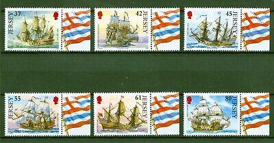 Jersey 2009 - Segelschiffe - Fregatten Der Britischen Flotte - Navy Nr. 1447-52 Eleganter Auftritt