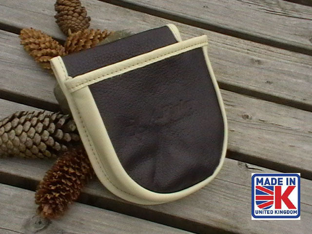 LEATHER SHOOTING CARTRIDGE BAG POUCH CLAY PIGEON SKEET SHOOTING SHOOTER CAM 2Y