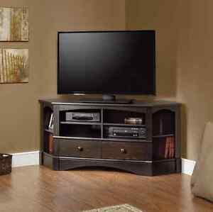 Image Is Loading Corner Tv Stand Rustic 60 Inch With Storage