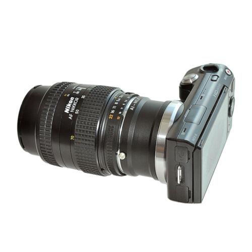 Adaptador objetivamente adaptador encaja con Nikon F en Sony nex-3 nex-5 nex-7