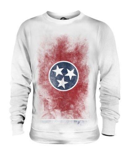 Tennessee État Décoloré Drapeau Unisexe Pull Tennessean T-Shirt Jersey Cadeau