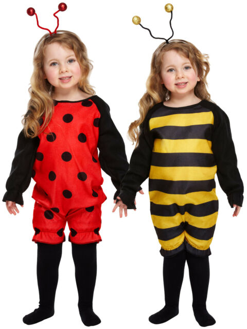 Kids Ladybird Bumblebee Costume Boys Girls Fancy Dress Insect Book Week Outfit