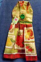 Handmade Apples, Cherries, Pears Fruit Hanging Kitchen Hand Towel 1319