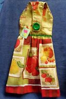 Handmade Apples, Cherries, Pears Fruit Hanging Kitchen Hand Towel 1319