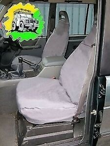 1998-2004 LANDROVER DISCOVERY 2 2x FRONT CAR//VAN SEAT COVERS BLACK 1+1