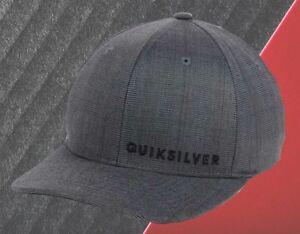 NEU-Quiksilver-Sideliner-dunkelgrau-Flex-Herren-Cap-Muetze