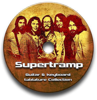 Supertramp Rock Guitar /& Tastatur Tab Tablature Lied BUCH Anthology Software CD